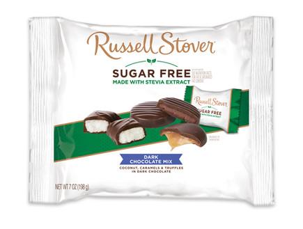 Russell Stover Sugar Free Dark Chocolate Mix Laydown Bag