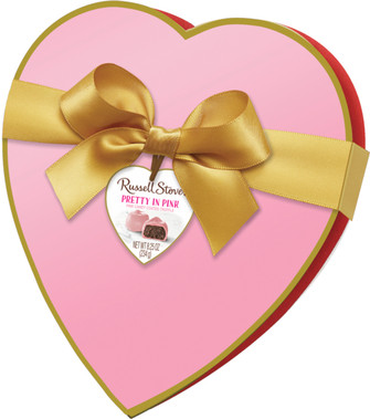 Russell Stover Pink Truffle Heart Box