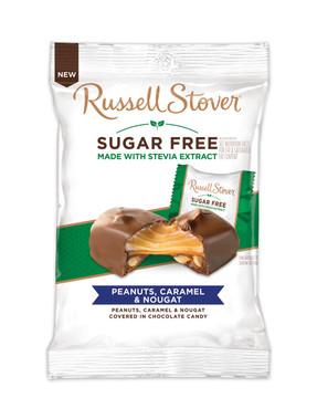 Russell Stover Sugar Free Peanuts, Caramel & Nougat Peg Bag