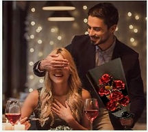 Ramo de rosas para cena romantica