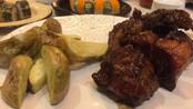 Receta de Costillas De Cerdo al horno al Estilo Thai, con papas campesinas.