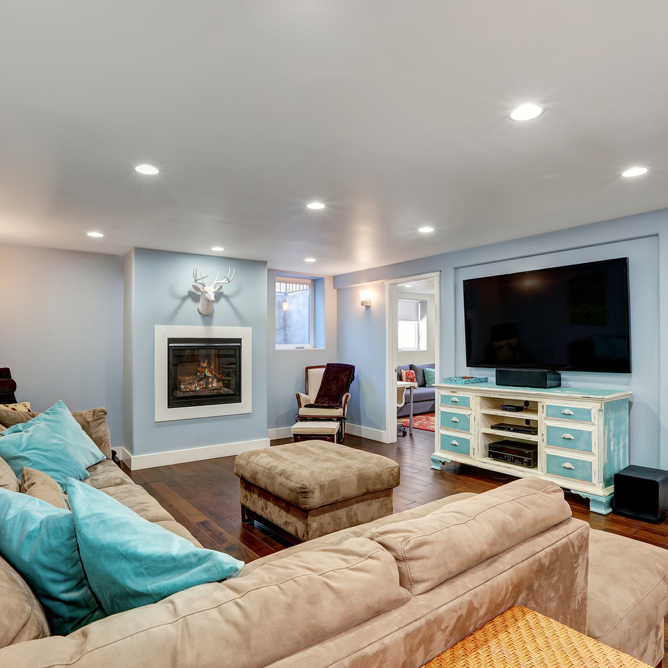 bigstock-Pastel-Blue-Walls-In-Basement--