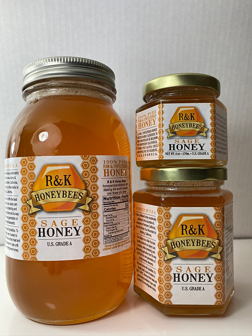 527, Sage Honey 6, 12, 32 oz