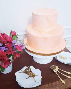Peach Marbled Cake