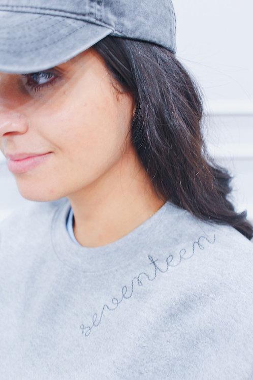 """""""Seventeen"""" Stiched Sweatshirt"""
