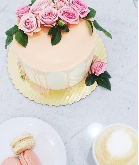 Pink and White Chocolate Drip Cake