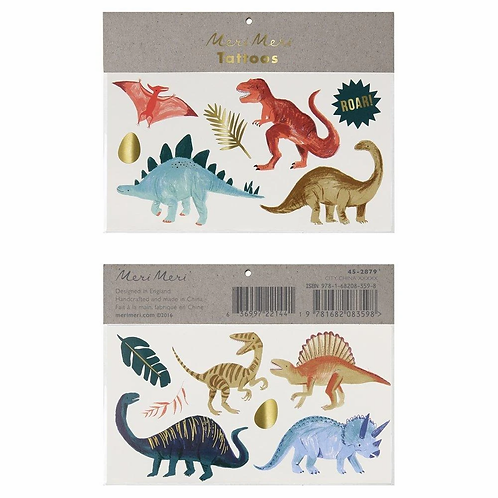 Dinosaur Kingdom Large Tattoos