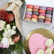Flowers and Dessert for Valentine's Day