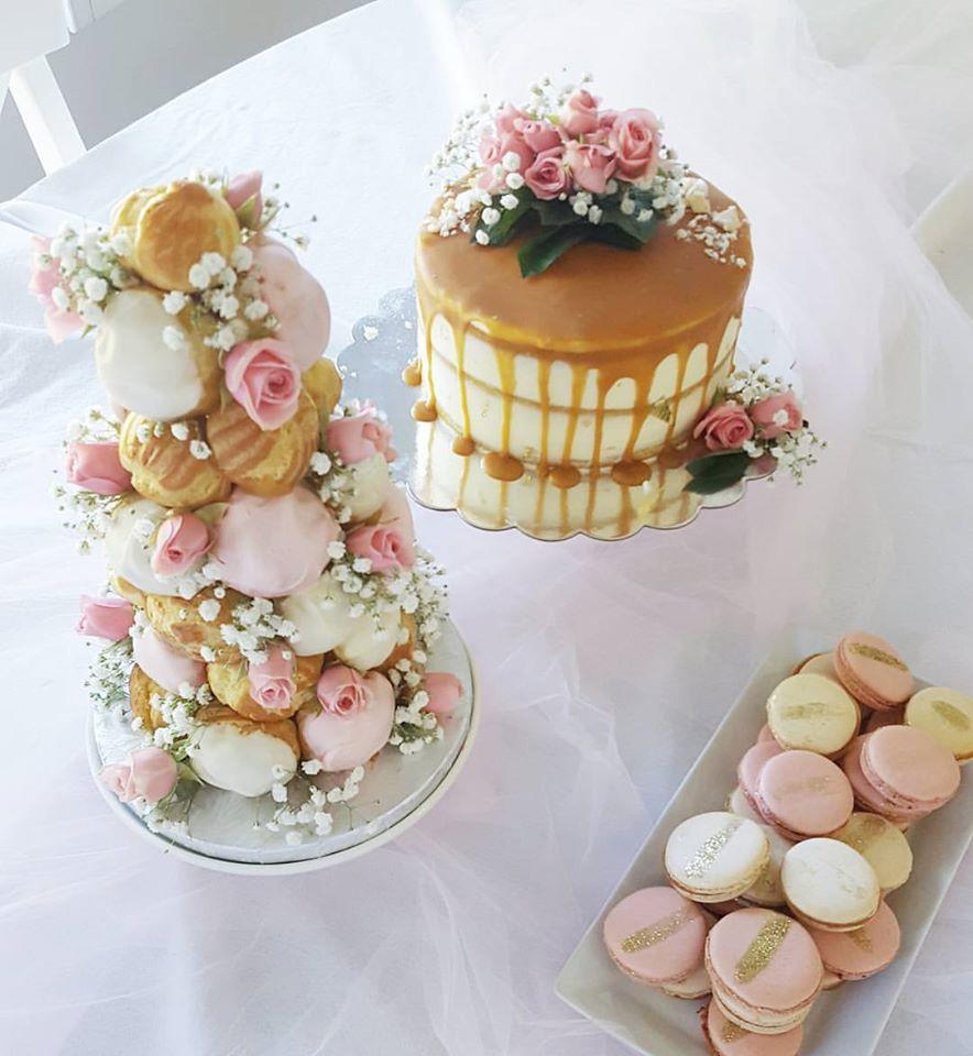 pink dessert bar