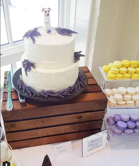 Buttercream Wedding Cake with Lavender