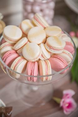 Vanilla and Raspberry Macarons