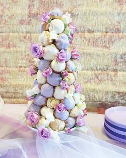 Lavender Croquembouche
