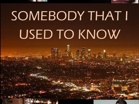 Somebody That I Used To Know (Written By Robert Cox)