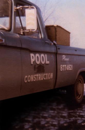 John Pool Contruction braded truck for custo homes