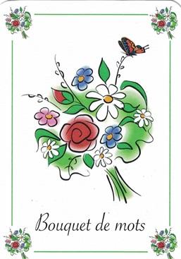 Cartes Bouquet de mots