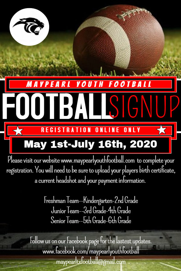 Copy of Football registration - Made wit