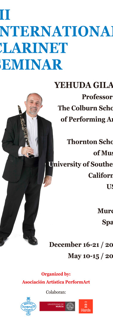 III INTERNATIONAL CLARINET SEMINAR FLYER