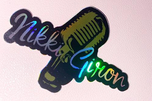 Holographic Nikki Giron Sticker