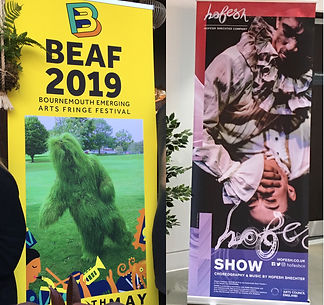BEAF 2019 and Hofesh Shechter Company roll-up banners