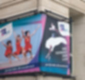 PDSW brand - large building banner