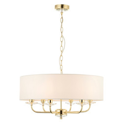 Nixon 6 Light Pendant Brass