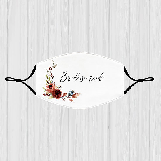 Bridesmaid Terracotta Face Mask