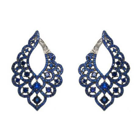 Blue Evening Bells Earrings
