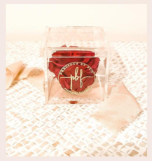 Glass Luxe Mini - Single Rose
