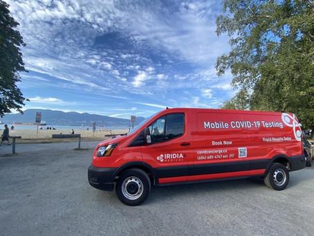 Meet Clifford: Iridia Medical's Big Red Covid-19 Testing Unit!