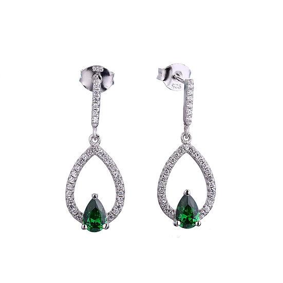 Green Pear Earrings