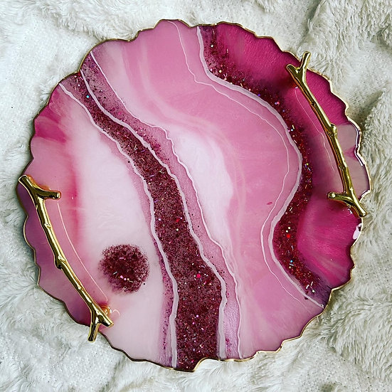Agate Inspired Trays