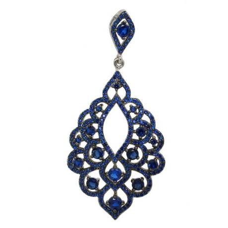 Blue Evening Bells Pendant