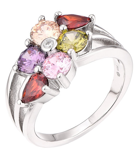 Multi-Coloured Stone Ring