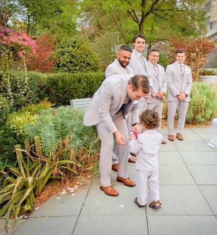 Grey Groomsmen Suits from Moore's