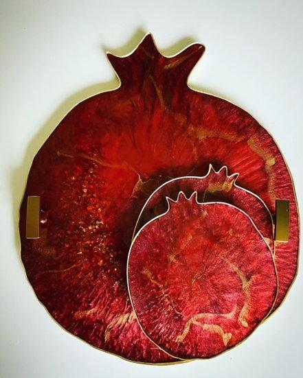 Pomegranate Tray Set