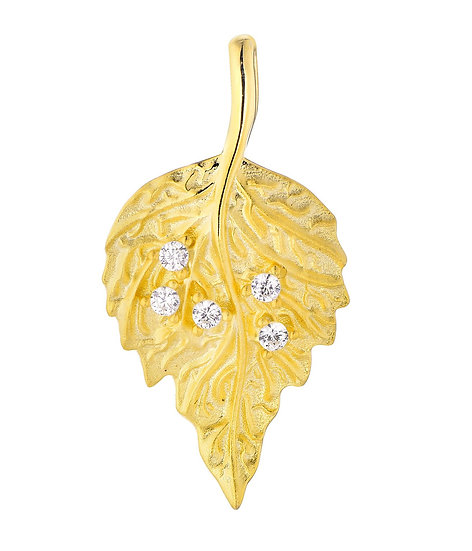 Matte Leaf Pendant