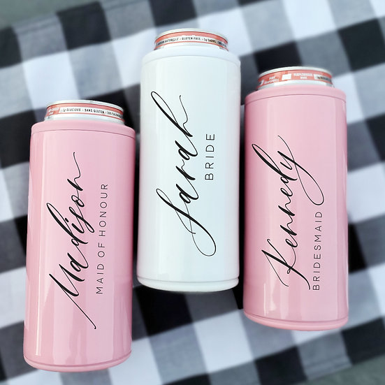 Personalized Stainless Steel Skinny Can Cooler