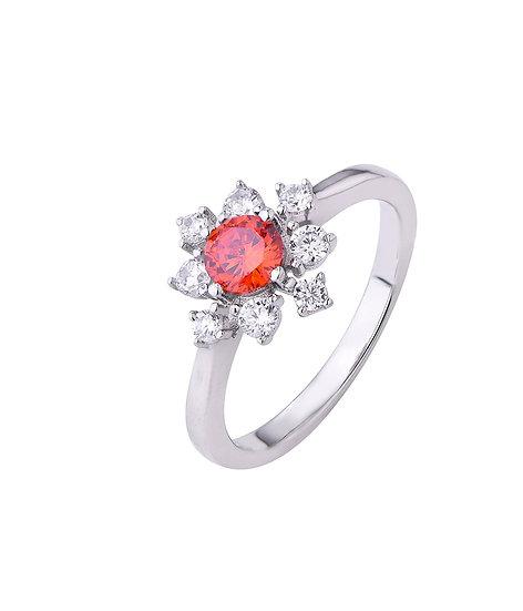 Orange Starburst Ring
