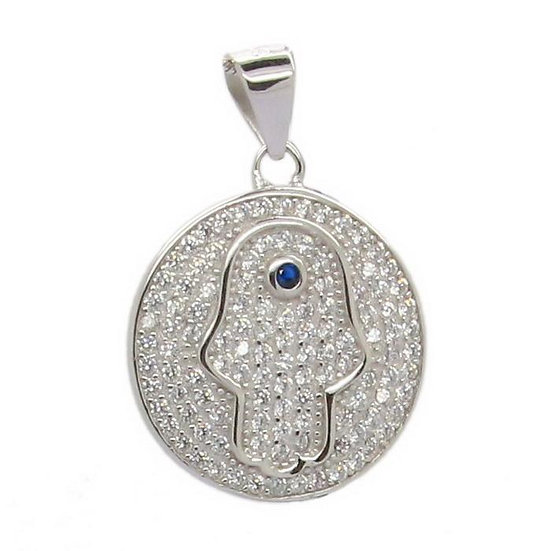 The Hamsa Disc Pendant