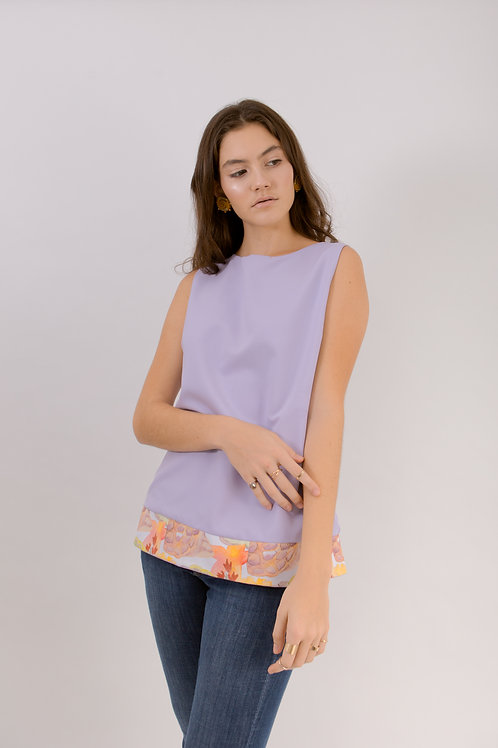 Reversible Flower and Solid Top
