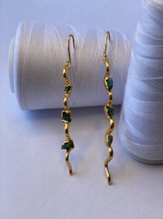 Zig Zag Emeralds Maxi Earring
