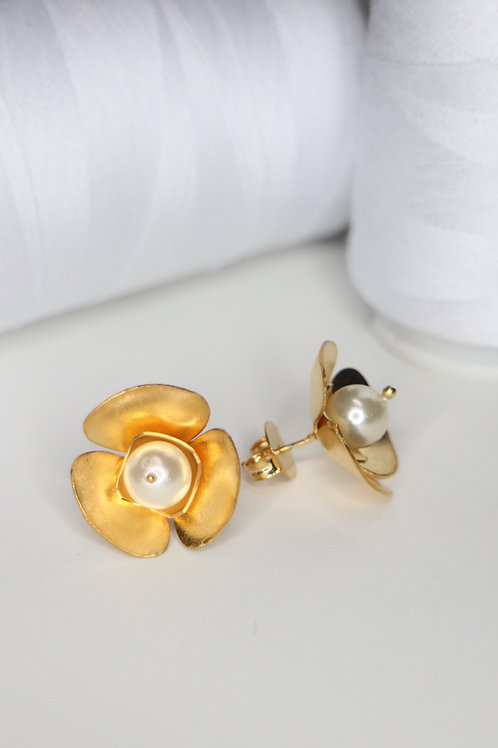 Pearl Summer Flower Earring