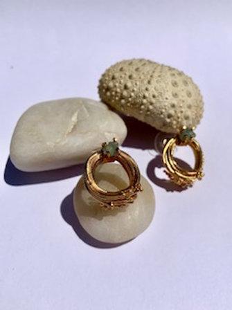 Emerald Pins Earring