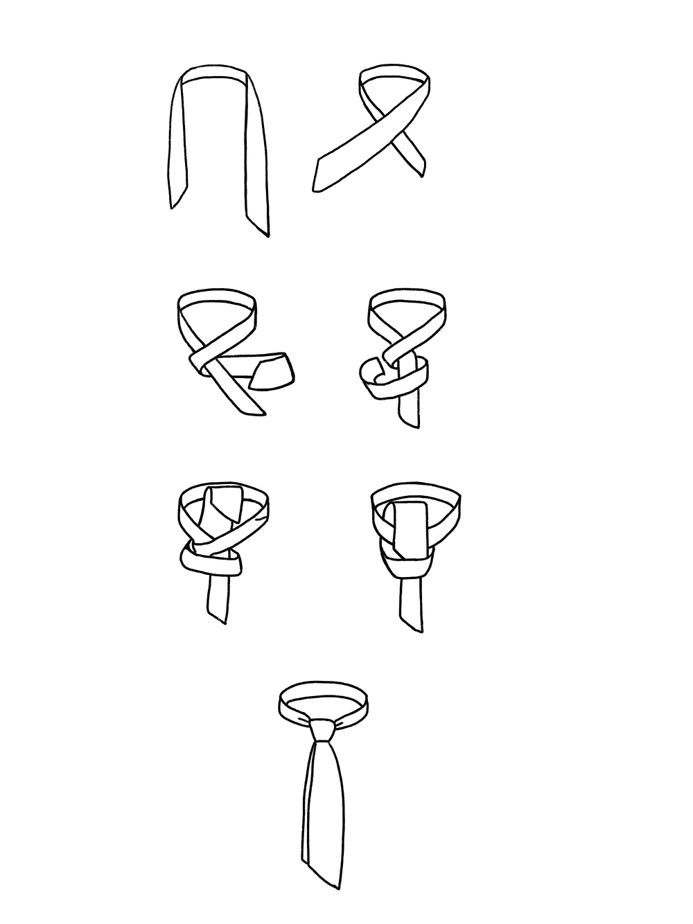 CARMENTA - drawing neck tie knot tutorial, Costa Rica design and art printed on fabric