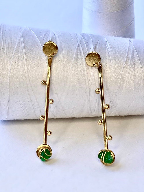 Maxi Stick with Emerald Earring