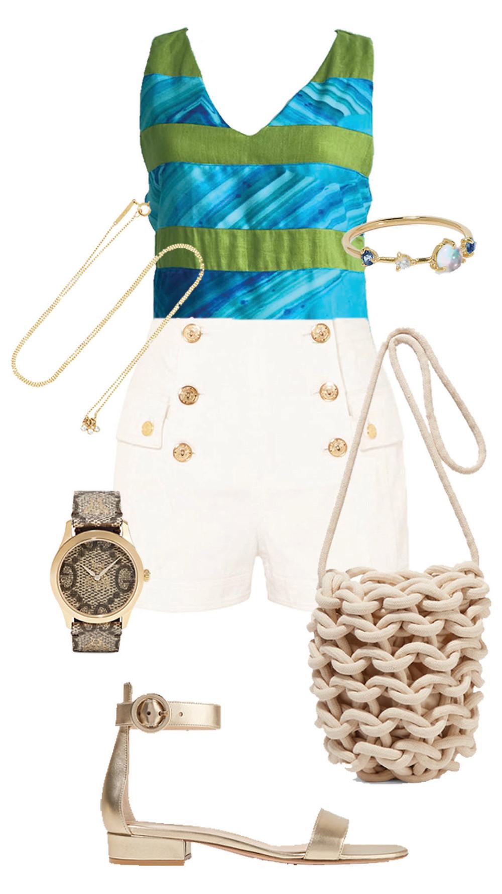 CARMENTA look casual -  blusa lino rayas