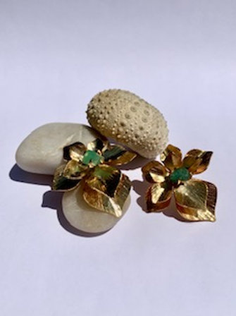 Emerald Frailejon Flower Earring
