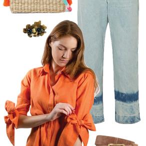 Casual- Blusas de Lazo Lino