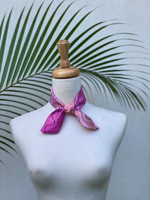Ribbon Silky Scarfs