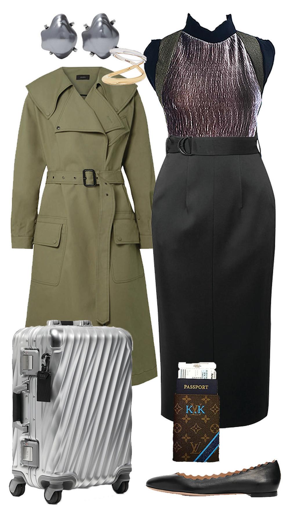 carmenta look oficina - blusa sin mangas collage